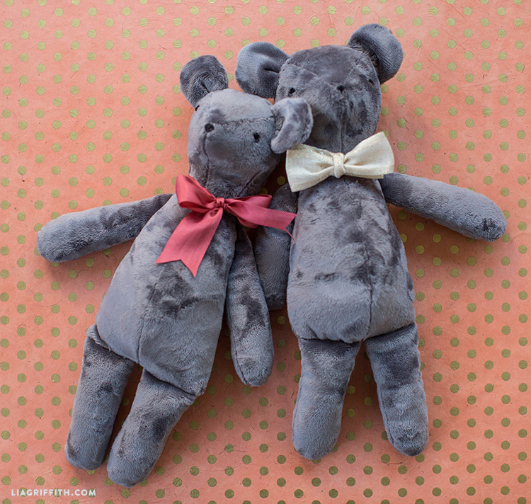handsewn teddy bears