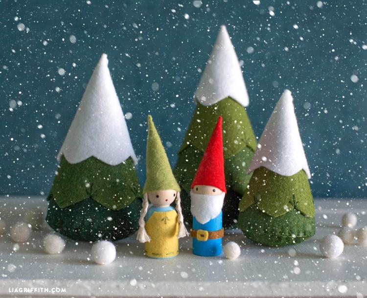 diy felt gnomes