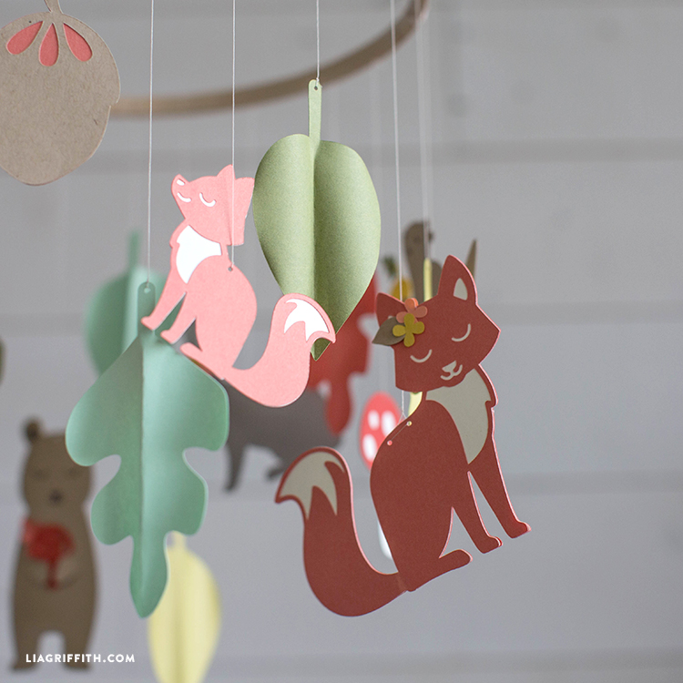 paper baby mobile