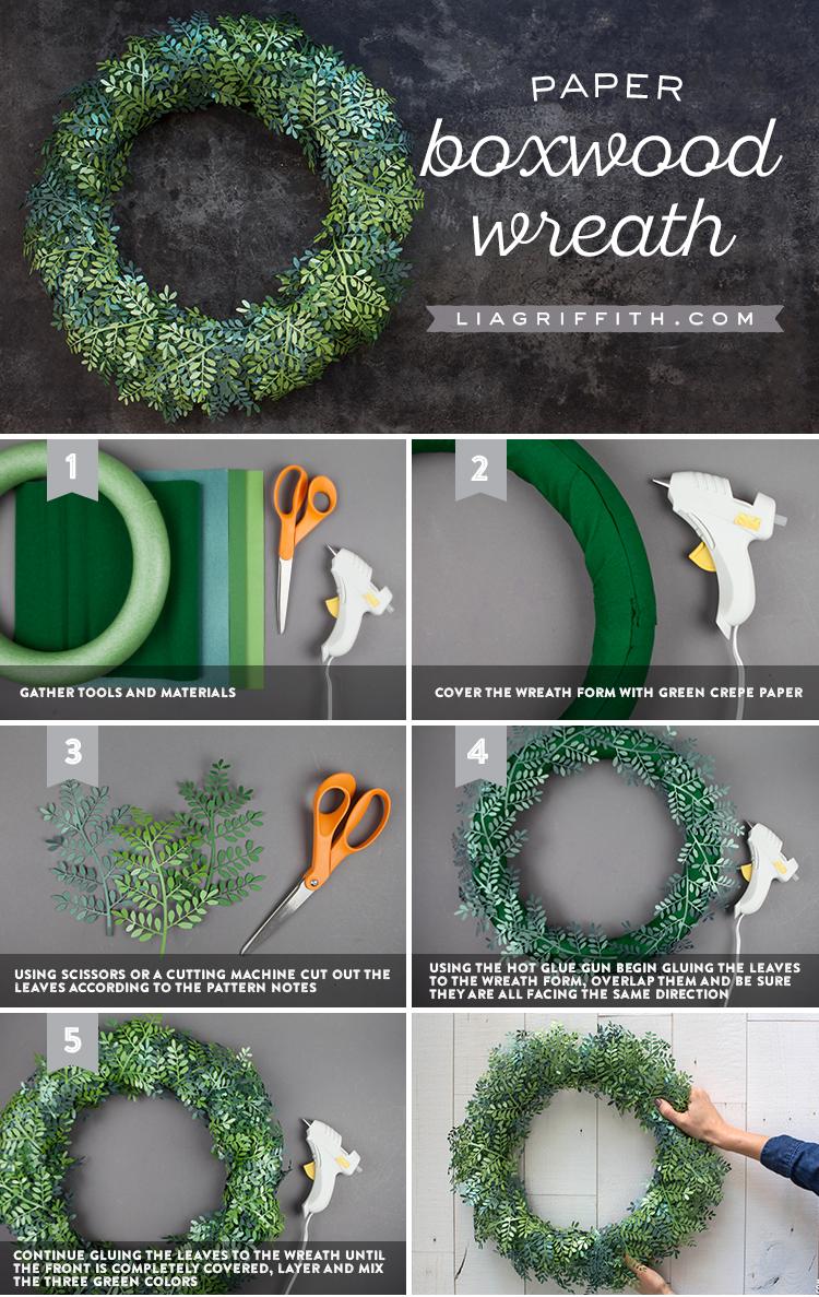 paper boxwood wreath