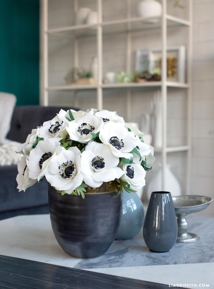 diy paper anemones