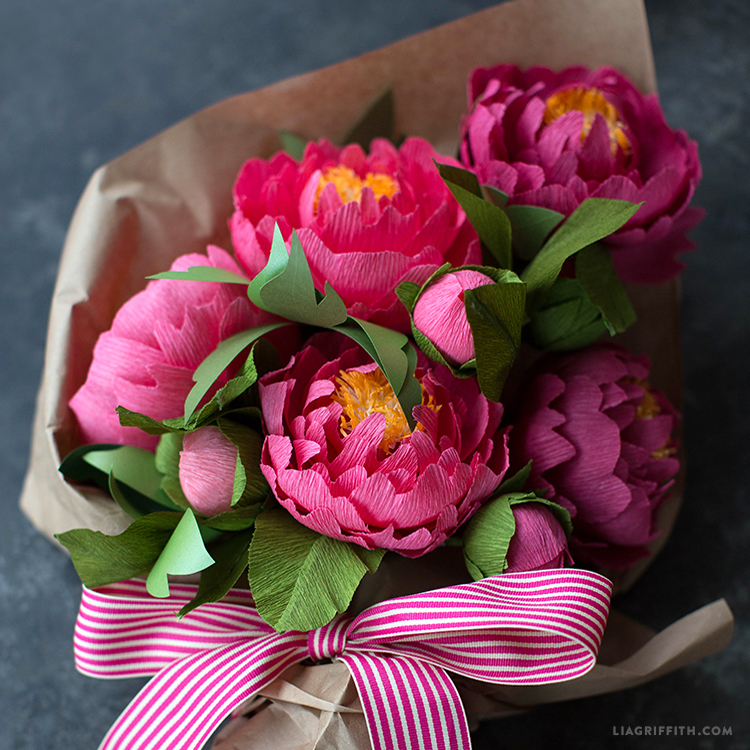 Craft a bouquet of gorgeous heavy crepe paper peonies heavy crepe paper peonies mightylinksfo