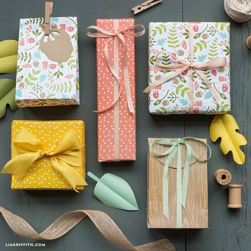 woodland gift wrapping for spring