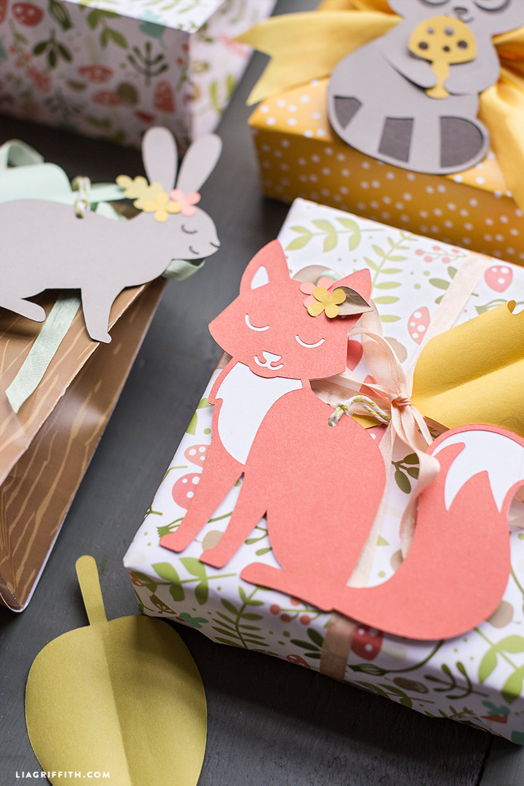 Create a set of easy papercut woodland gift tags