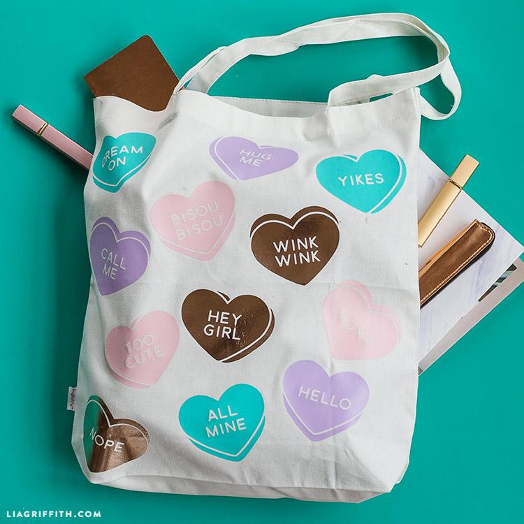 diy tote bag for valentine's