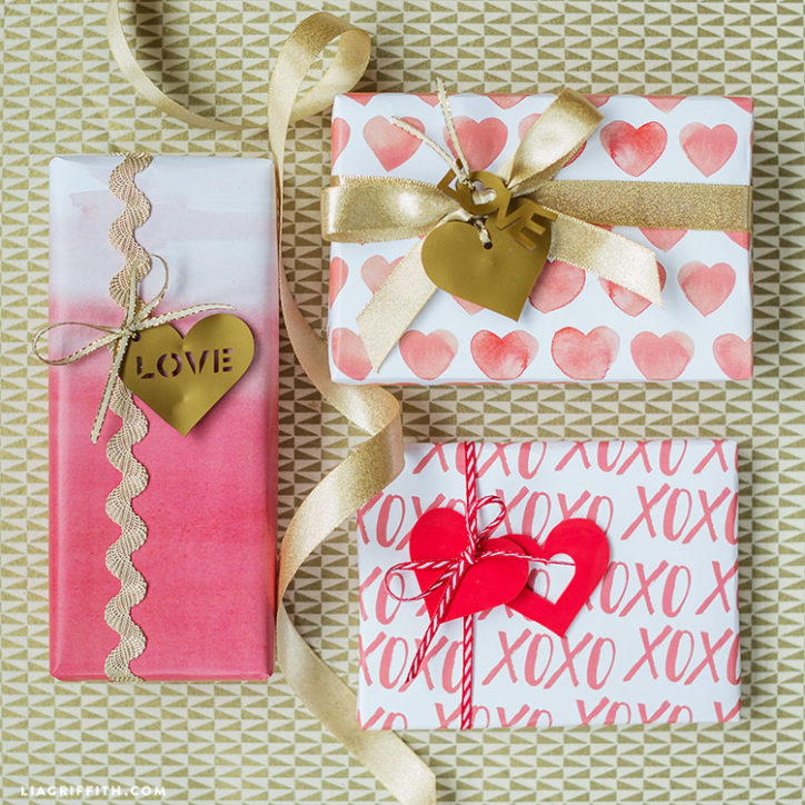 Valentine's Day Gift Wrap and Tags