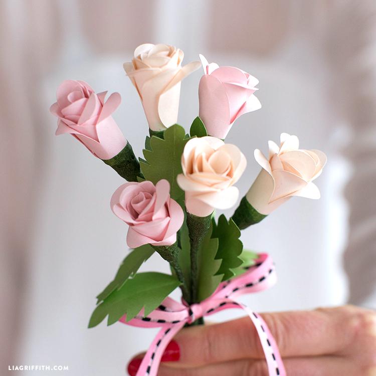 simple paper roses