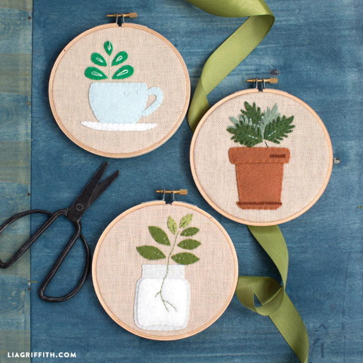 Embroidery Plants Wall Art