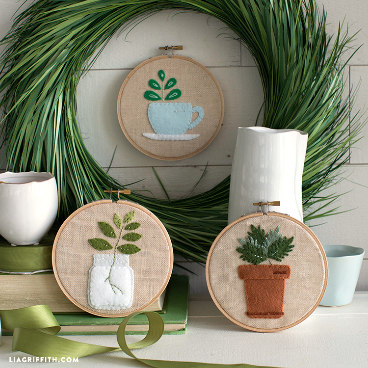 embroidered home art