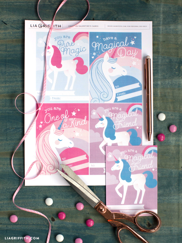 diy unicorn valentines