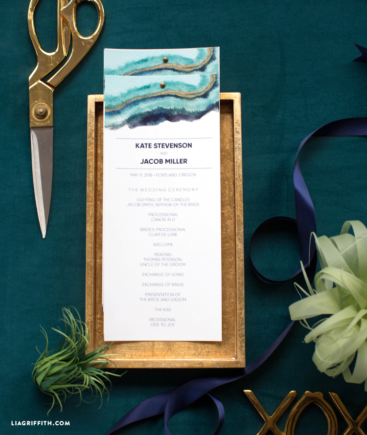 diy wedding program