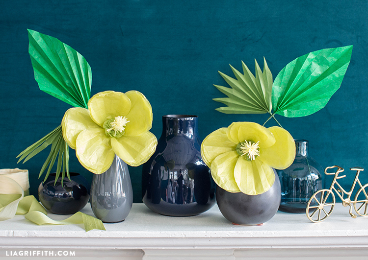 Diy Tropical Flowers Tissue Paper Hibiscus Lia Griffith