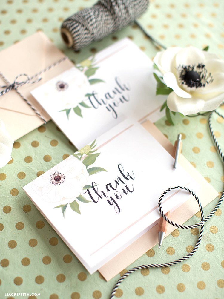 Printable Wedding Thank Yous Cards