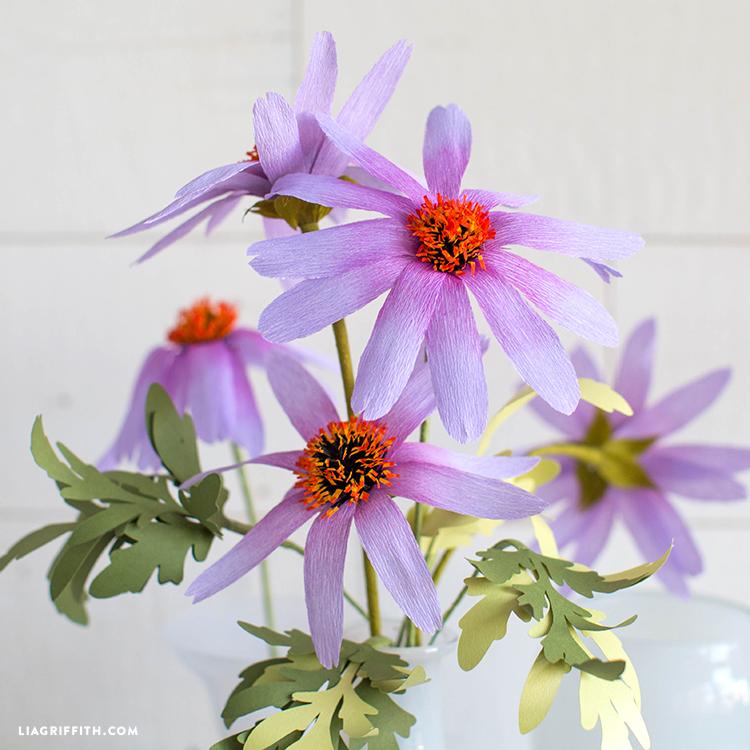 crepe paper echinacea
