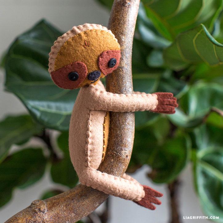 felt sloth