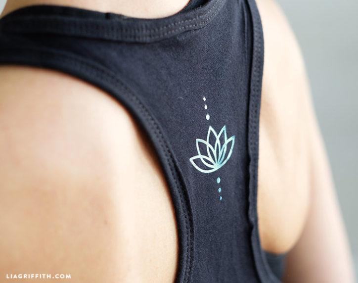 iron-on yoga shirt