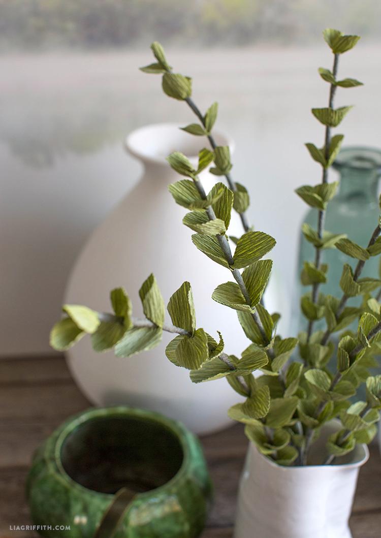 crepe paper eucalyptus