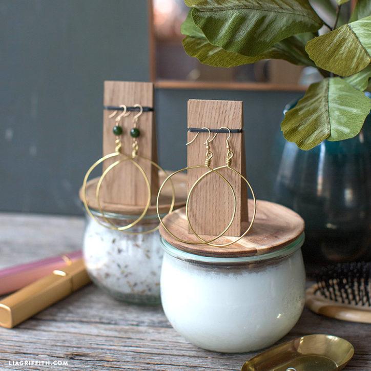 DIY Gold Hoop Earrings