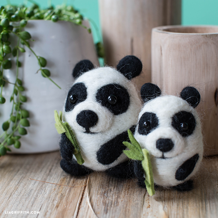 felt pandas
