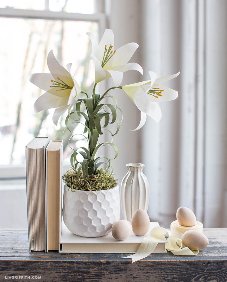 paper easter lily flower