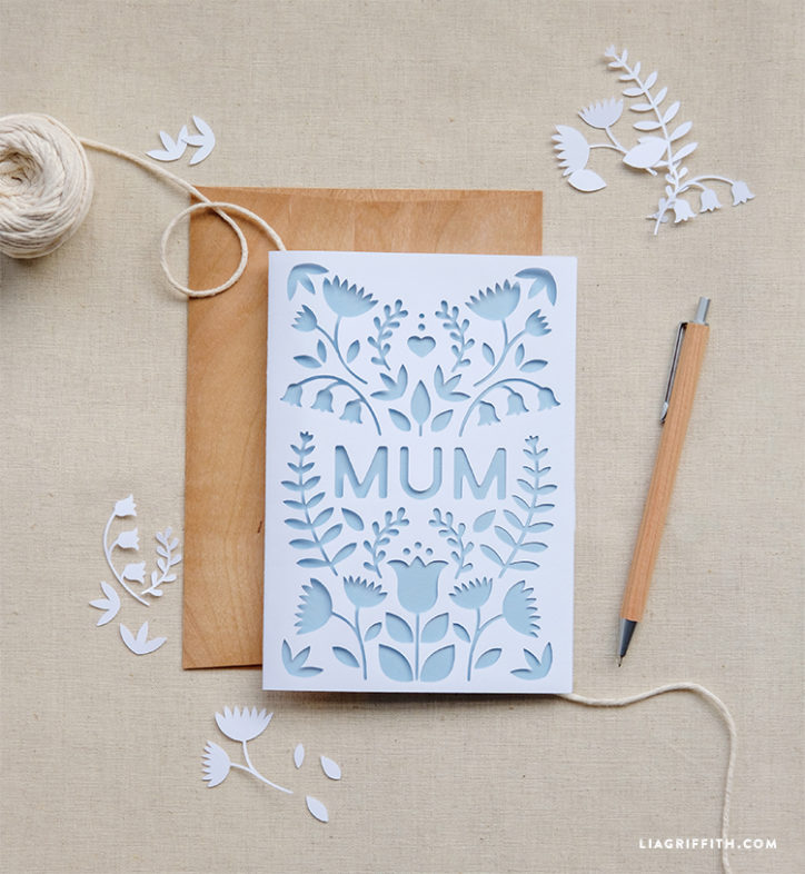 Print a beautiful card for your Mum this UK mother's day