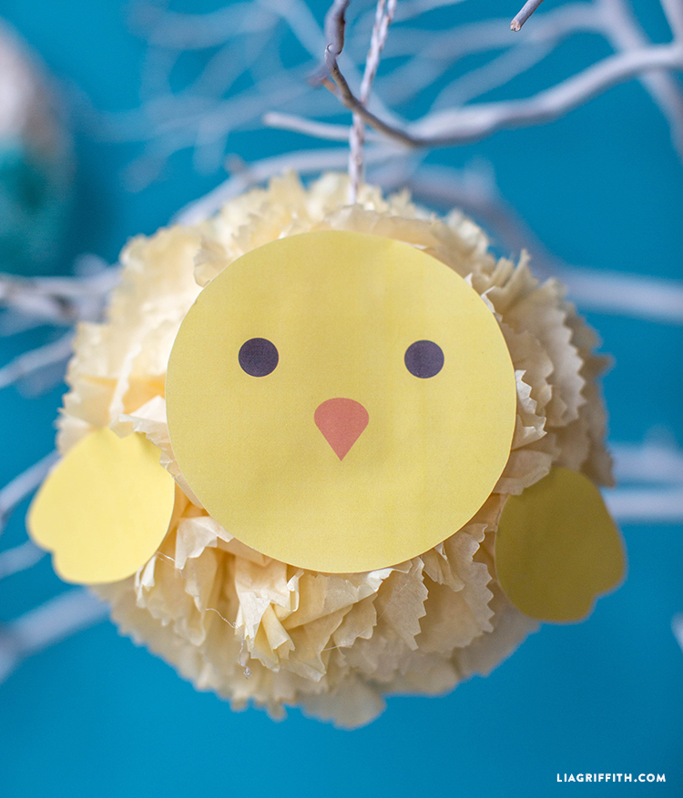 diy easter tissue poms