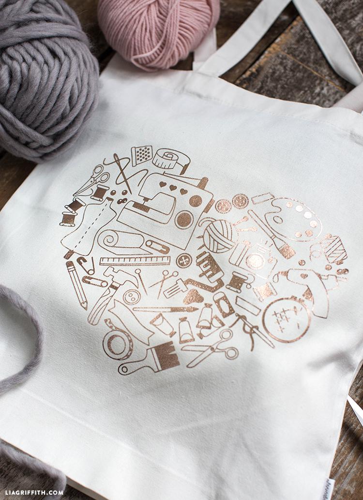 crafting tote bag