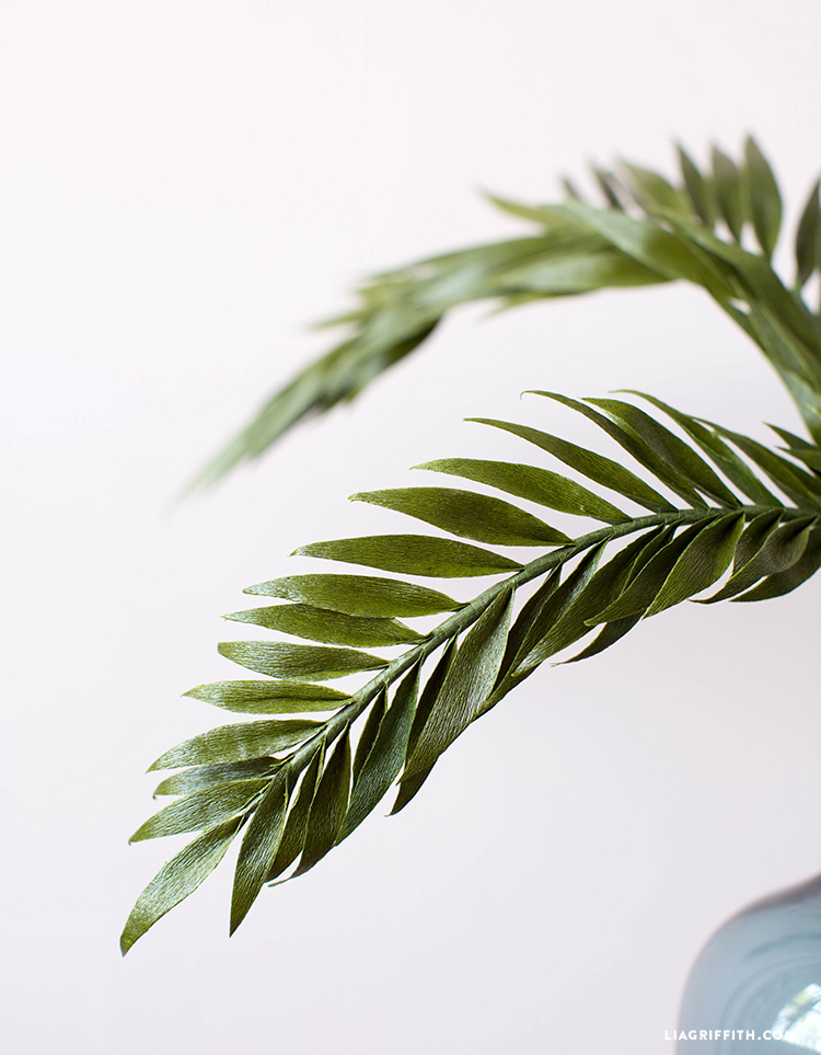 diy palm leaves