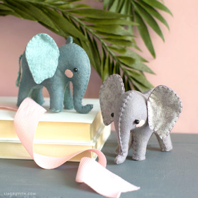 Video Tutorial: Felt DIY Elephants