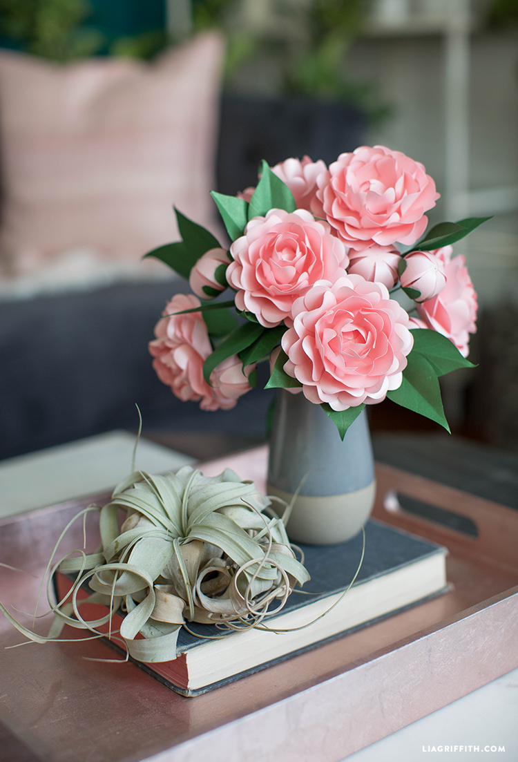 Free Download Diy Frosted Paper Camellia Flower