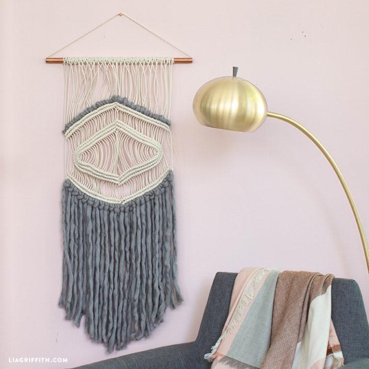 Macrame and Yarn Wall Hanging