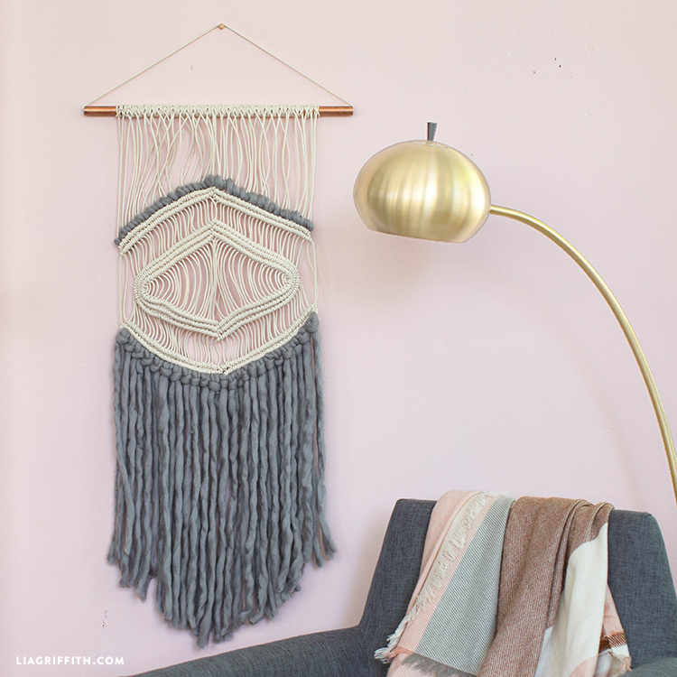diy macrame and yarn wall art