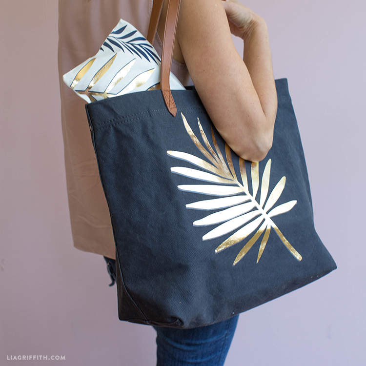 tropical iron on tote