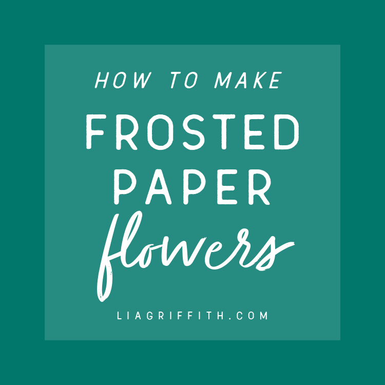 how to make frosted paper flowers