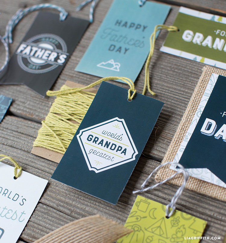 printable gift tags for dad