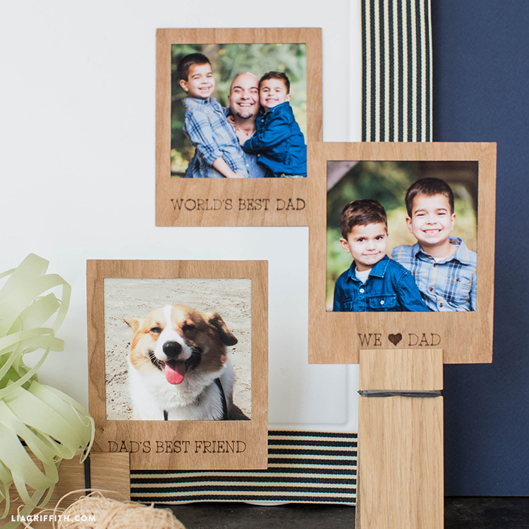 wood polaroid photo frames