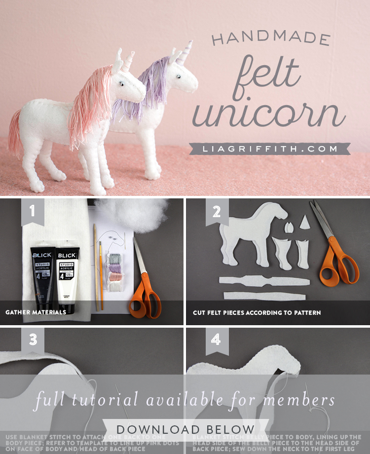 Sew a Felt Unicorn Includes Book Full of Unicorn Projects! Magical Makes
