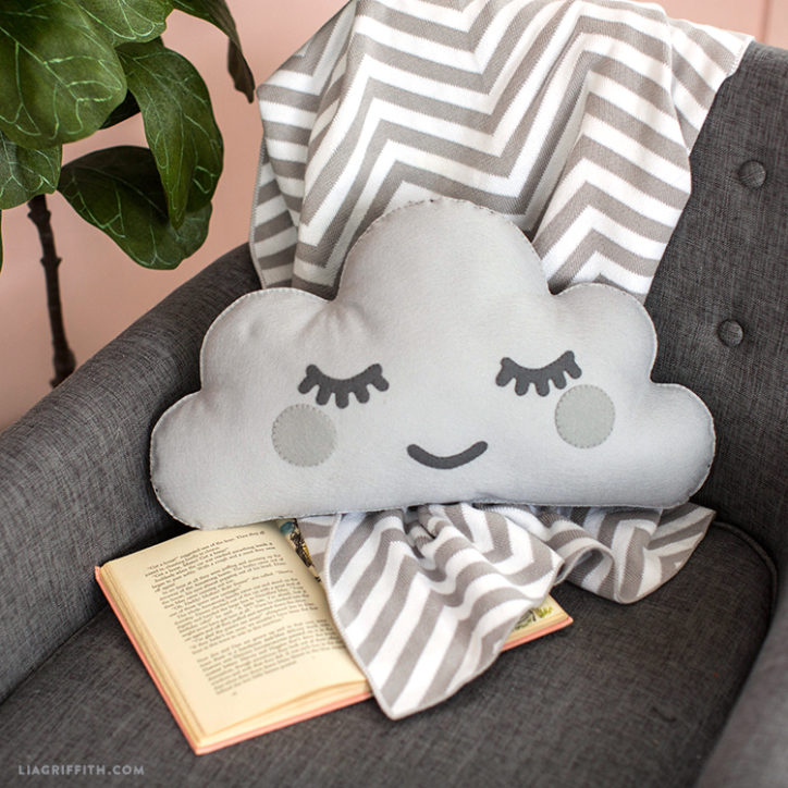 Hand Sewn Felt Cloud DIY Pillow