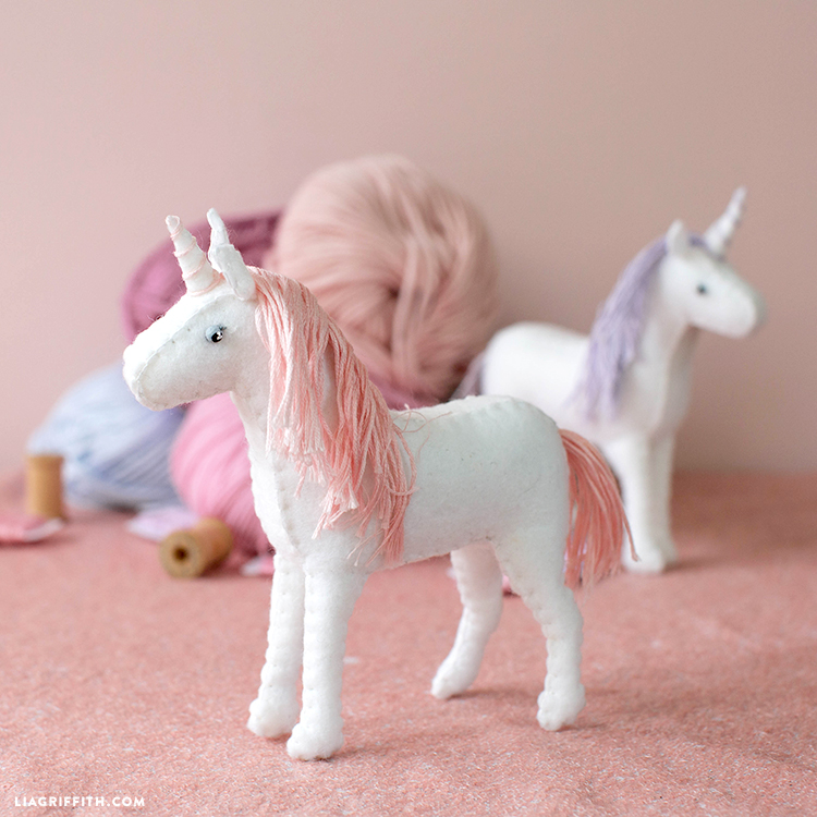 felt unicorn diy