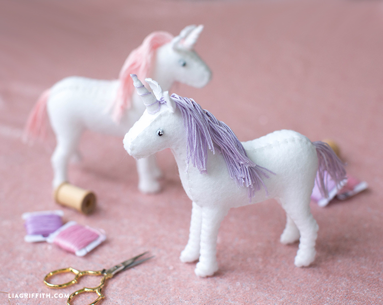 diy felt unicorn