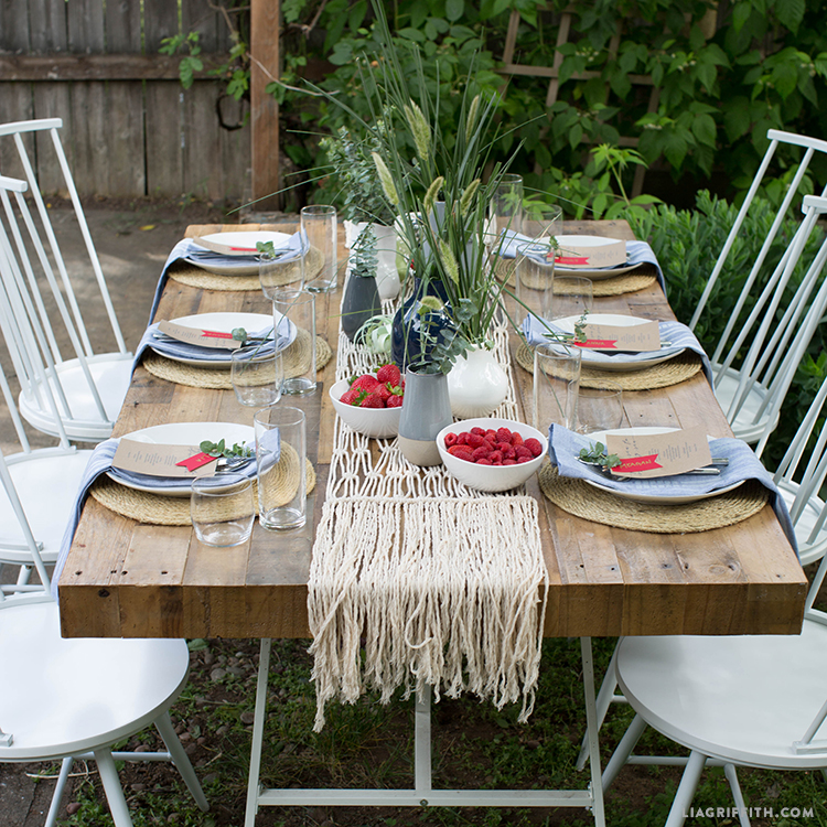 Table for 4th of July