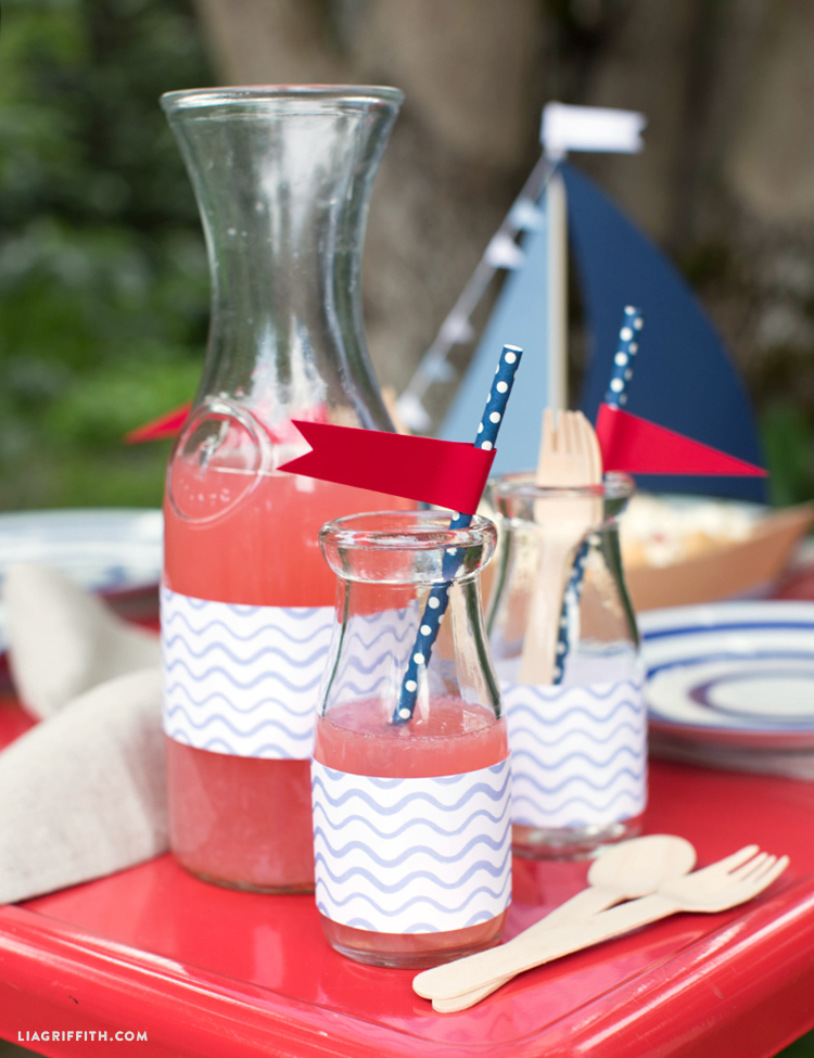 Nautical Decor Bottle Wraps