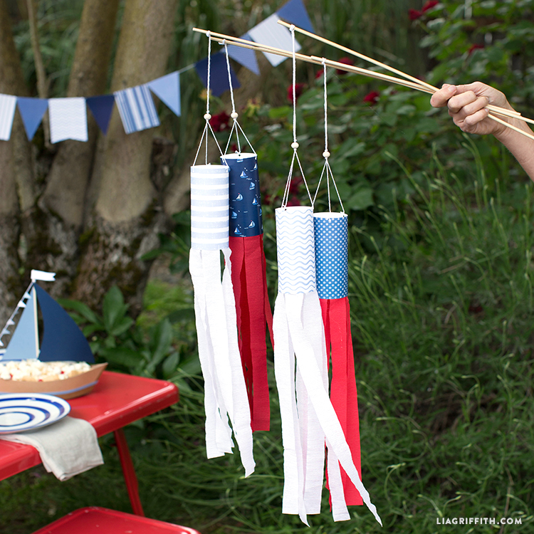 DIY Projects for Kids: Crepe Paper Windsocks