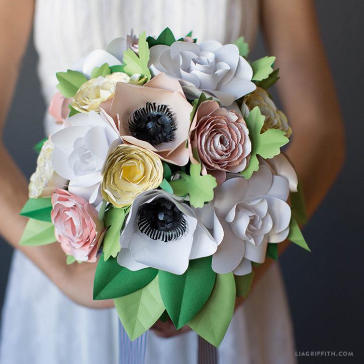 paper garden wedding bouquet