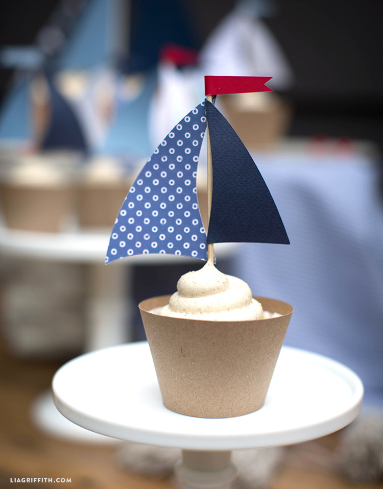 Sailboat Toppers for Cupcakes