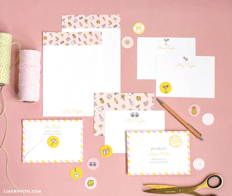 personalized stationery request