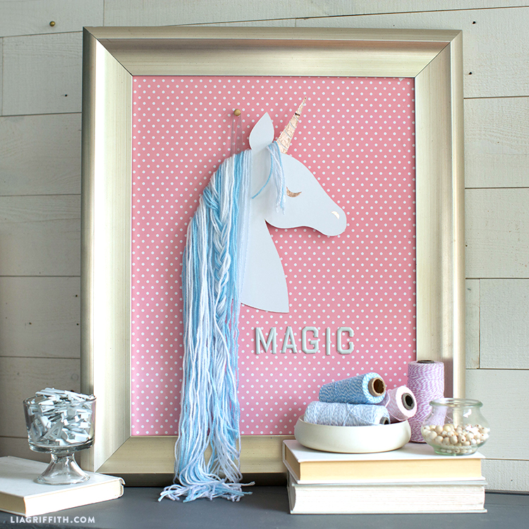 paper unicorn wall art