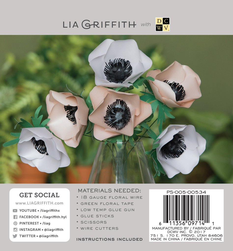 Anemone Frosted Paper Flower Kit Lia Griffith