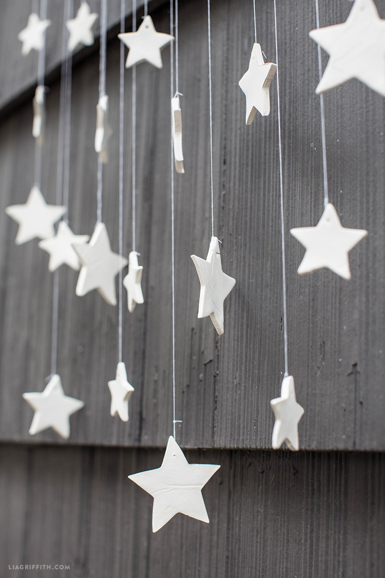 DIY Wall Decor - Hanging Clay Stars