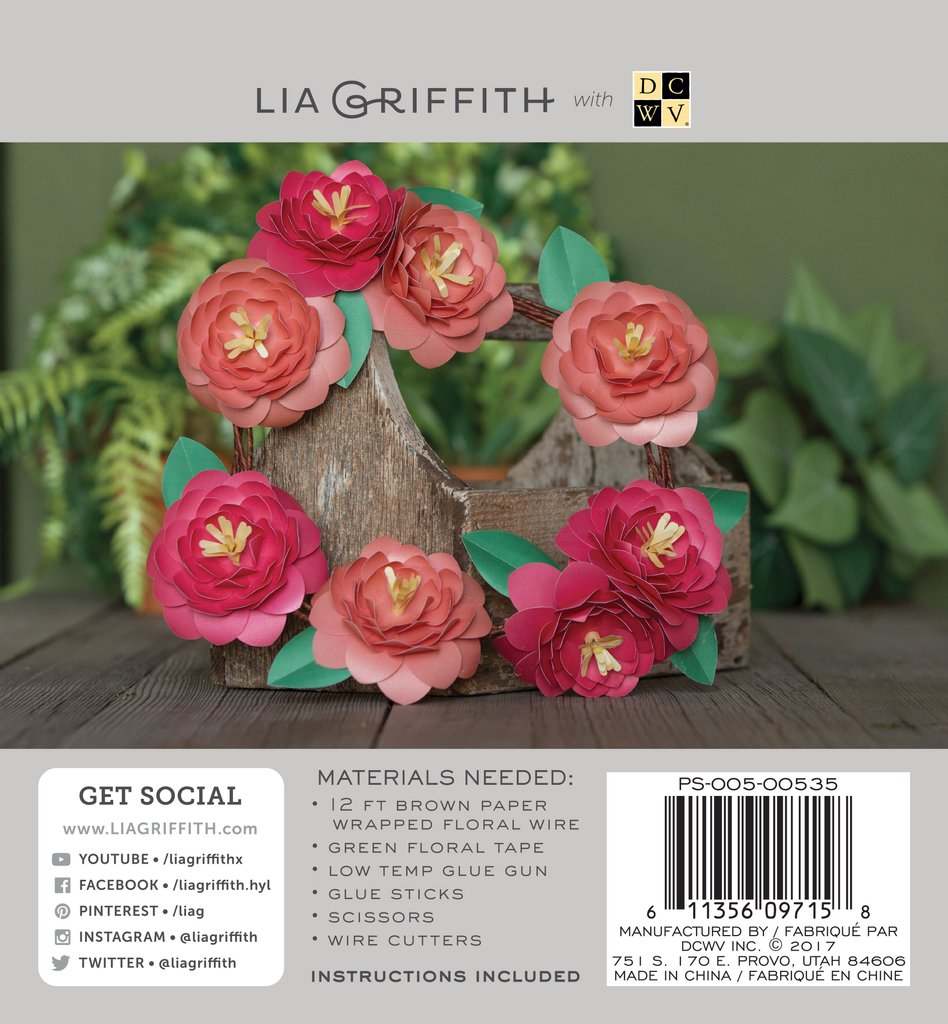 Camellia Frosted Paper Flower Kit - Lia Griffith